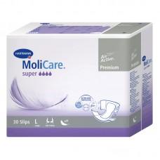 Molicare Premium Super Plus Large, nočne hlačne plenice (30 predlog)