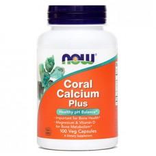 Koralni kalcij Plus NOW, kapsule (100 kapsul)