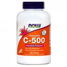 Vitamin C-500 NOW, žvečljive tablete (100 tablet)